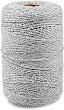 jijAcraft Katoenen koord macramé garen knutselkoord 2 mm x 200 m voor doe-het-zelf, geschenkverpakking, tuinieren (grijs)