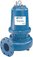 2 HP Manual Submersible Sewage Pump, 460 Voltage, 320 GPM of Water 15 Ft. of Head