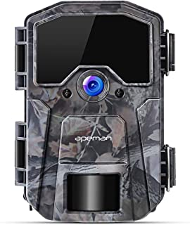 APEMAN Trail Camera 16MP 1080P Wildlife Camera, Night Detection Game Camera with No Glow 940nm IR LEDs, Time Lapse, Timer, IP66 Waterproof Design