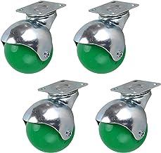 4 stks Meubelwielen 2inch 50mm Wielen, Bal Castor Wheels, Moving Caster Wheels, 360 ° Swivel Wheels, Trolley Nylon Wheels,...