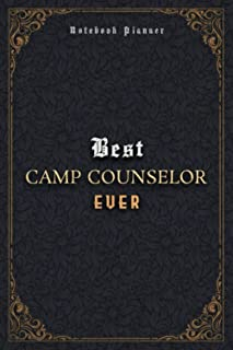 Camp Counselor Notebook Planner - Luxury Best Camp Counselor Ever Job Title Working Cover: A5, Journal, Meal, Business, 5....