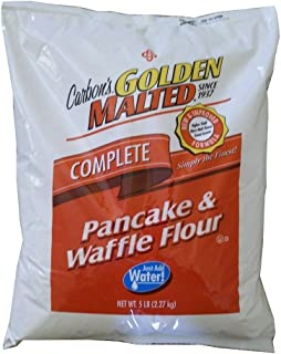 Carbon's Golden Malted Pancake and Waffle Flour Mix - 80 ounces - Complete Mix - Just Add Water