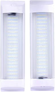 72 LEDs 11 inches Car Interior Led Light Bar White Light Tube with On/Off Switch for Car Van Truck RV Camper Boat Work as Map Light Dome Light Trunk or Cargo Area Light Rear Room Light, Pair of 2