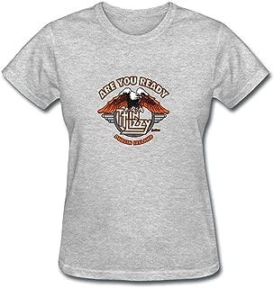 Tommery Women's Thin Lizzy Band Design Cotton Short T-Shirt XXL