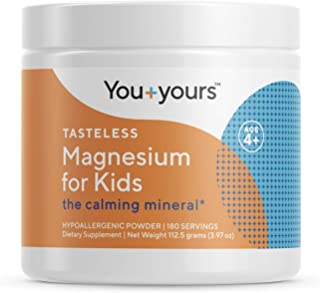 Tasteless, Calming Magnesium for Kids- 3 Month Supply- Non-Laxative, Vegan, Non-GMO, Hypoallergenic, Third-Party Tested fo...