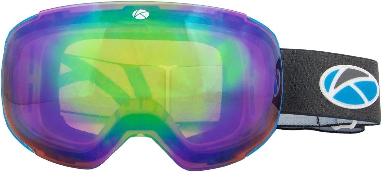 Unisex Schneebrille rahmenlose auswechselbarem Objektiv UV-Schutz Anti Nebel blendfrei breit Vision Klarheit Ski Snowboard, LAGAS–Pacific