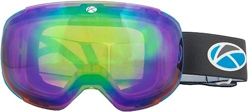 Unisexe Masque de ski sans cadre objectif interchangeable prougeection UV anti-buée anti reflets grand Vision Clarté de ski snowboard, Lagas Pacific