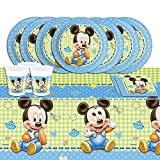 Disney - Set di accessori per feste, 53 pezzi, motivo: Topolino, per 16 persone