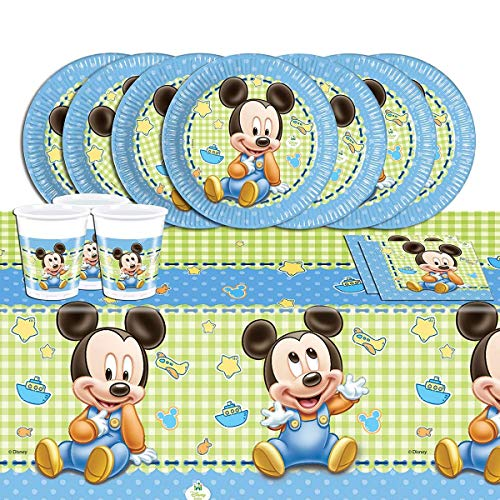Mickey Mouse Disney Completo, para Kit de Fiesta de Baby Shower, para 16 niños
