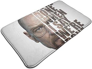 HUTTGIGH Breaking Bad Heisenberg - Alfombrilla antideslizante para puerta de entrada, alfombra de baño, alfombra de cocin...