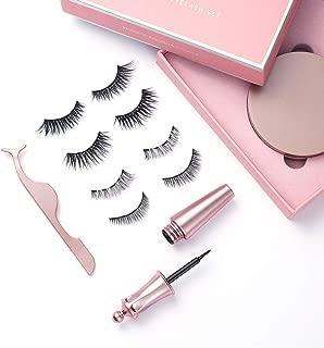 Magnetic Eyeliner with Magnetic Eyelashes Kit False Lashes | 4 Pairs