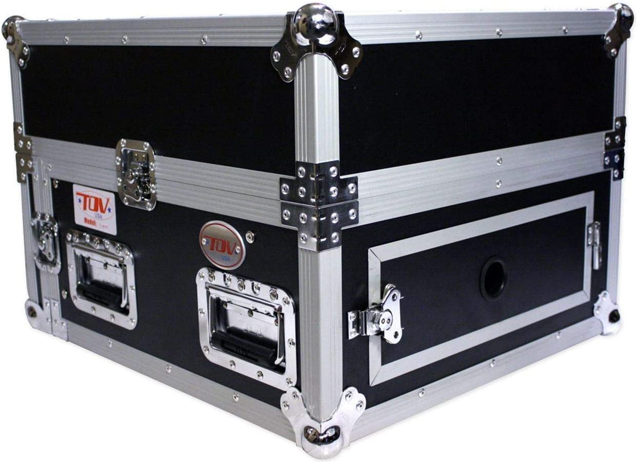 ProX Cases T-4MRSS 4U Space Amp 10U Free shipping on posting reviews Combo Max 62% OFF DJ Top Mixer Slanted R
