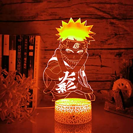 3D LED Night Light Naruto Touch Swift Table Desk Bed Lamp Christmas Kids Gift