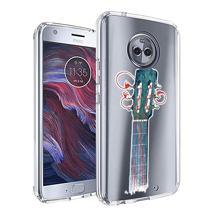 Clear Phone Case Compatible Moto X4 Customized Guitar String Design by MERVELLE TPU Clear Shock-Proof Protective Case [Ultra Slim, Anti-Slippery]