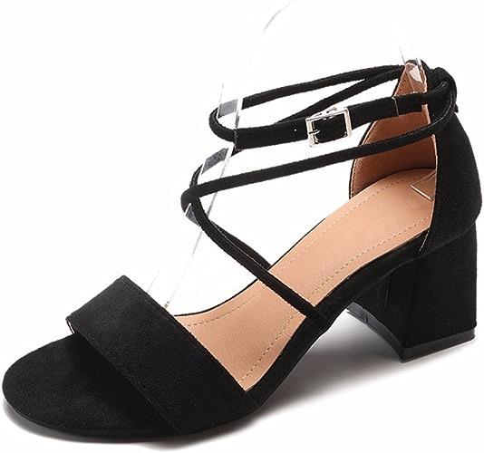 YMFIE Croix Simple Style européen contraignant Dame Toe Toe Sandales Sandales de Danse de Mariage Parti