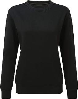123t Asquith & Fox Women's Organic Crew Neck Sweatshirt Blank Plain AQ079
