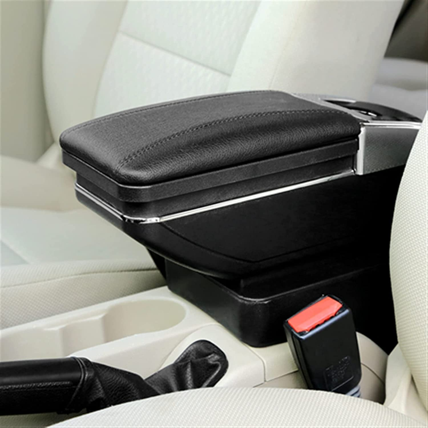 ZYYCJ Armrest Large discharge sale Box for Perodua B 2014-2016 Myvi Rotatable 67% OFF of fixed price