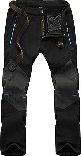 LASIUMIAT Men's Fleece Lined Water Resistant Ski Pants Outdoor Snowboard Hiking Pants with 4 Zipper Pocket