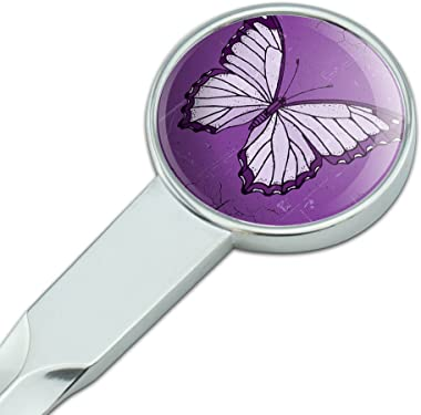 Graphics and More Butterfly Artsy Purple Classic Metal Envelope Letter Opener
