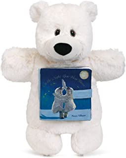 DEMDACO Night You were Born Polar Bear & Storybook Children's Plush Animal Puppet Toy