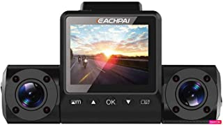 Máy thâu hình đặt trên xe ô tô – EACHPAI X200 GPS Dash Cam 32GB | Dual 1080P IR Camera | Sony Sensor | High Heat Resistant Super Capacitor | Rideshare Friendly | 150 Degree Wide Angle Lens | WDR | Enhanced Night Vision