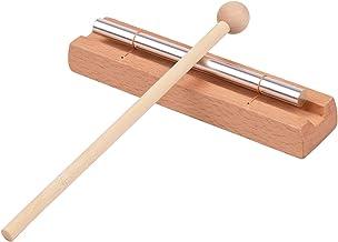 RuleaxAsi Carrilhões de madeira de um tom com instrumento de percussão com malho para meditação de ioga Brinquedo musical ...