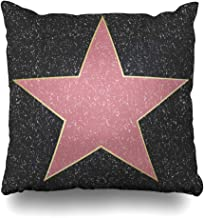 Ahawoso Throw Pillow Cover Performer Hollywood Walk Fame Star City Empty Blank Angeles Design Decorative Pillowcase Square 18