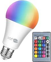 مصباح ليد ملون بفضاء لوني RGB بقدرة 5 واط، يعمل بجهاز التحكم عن بعد، مصباح اضاءة ملون للديكور يعطي اضاءة رومانسية للغرف، م...