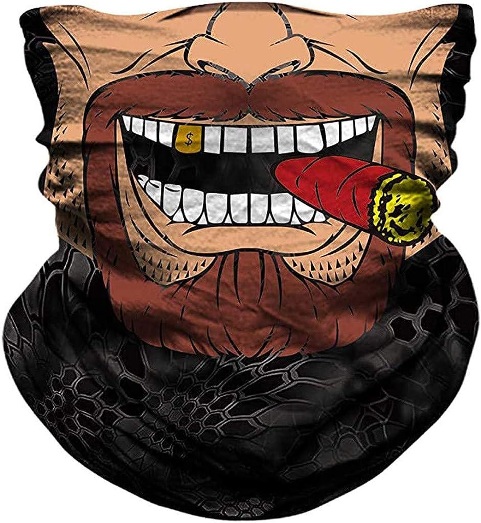 Smoking Men Cool Tube Face Mask, Rave Bandana, Neck Gaiter, Scarf, Summer Balaclava for Dust Wind UV Protection