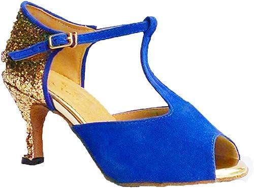 Wohommes Chaussures De Danse Latine,Daim Fond Mou Talons Hauts Salsa Chaussures De Danse Tango Chaussures De Danse Sociale
