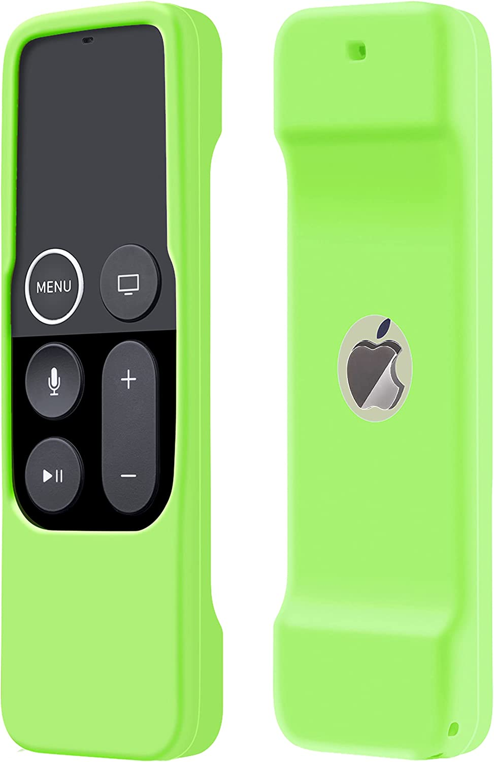 Case Compatible with Apple TV 4K/ 4th Gen Remote Light Weight Anti-Slip Shock Proof Silicone Cover for Controller for Apple TV Siri Remote - Chartreuse