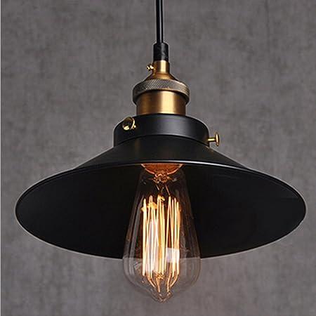 E27 Métal Plafonniers Retro Suspensions Luminaires Edison Culot E27 Vintage Plafonniers Lustre Eclairage de Plafond Edison Culot E27 Noire Luminaires Plafonnier Suspension Luminaires Lampe