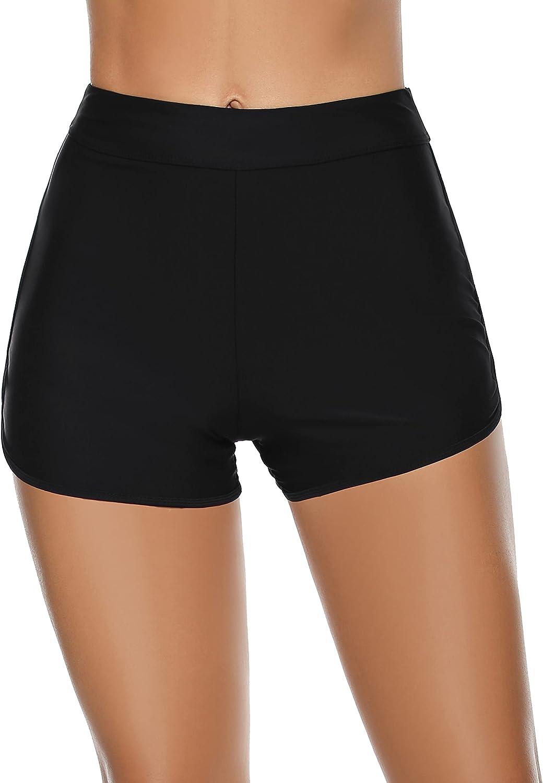 Tournesol Women's Swim Shorts High Waist Bathing Suit Boy Shorts Bikini Tankini Swimwear Boy Leg Bottoms