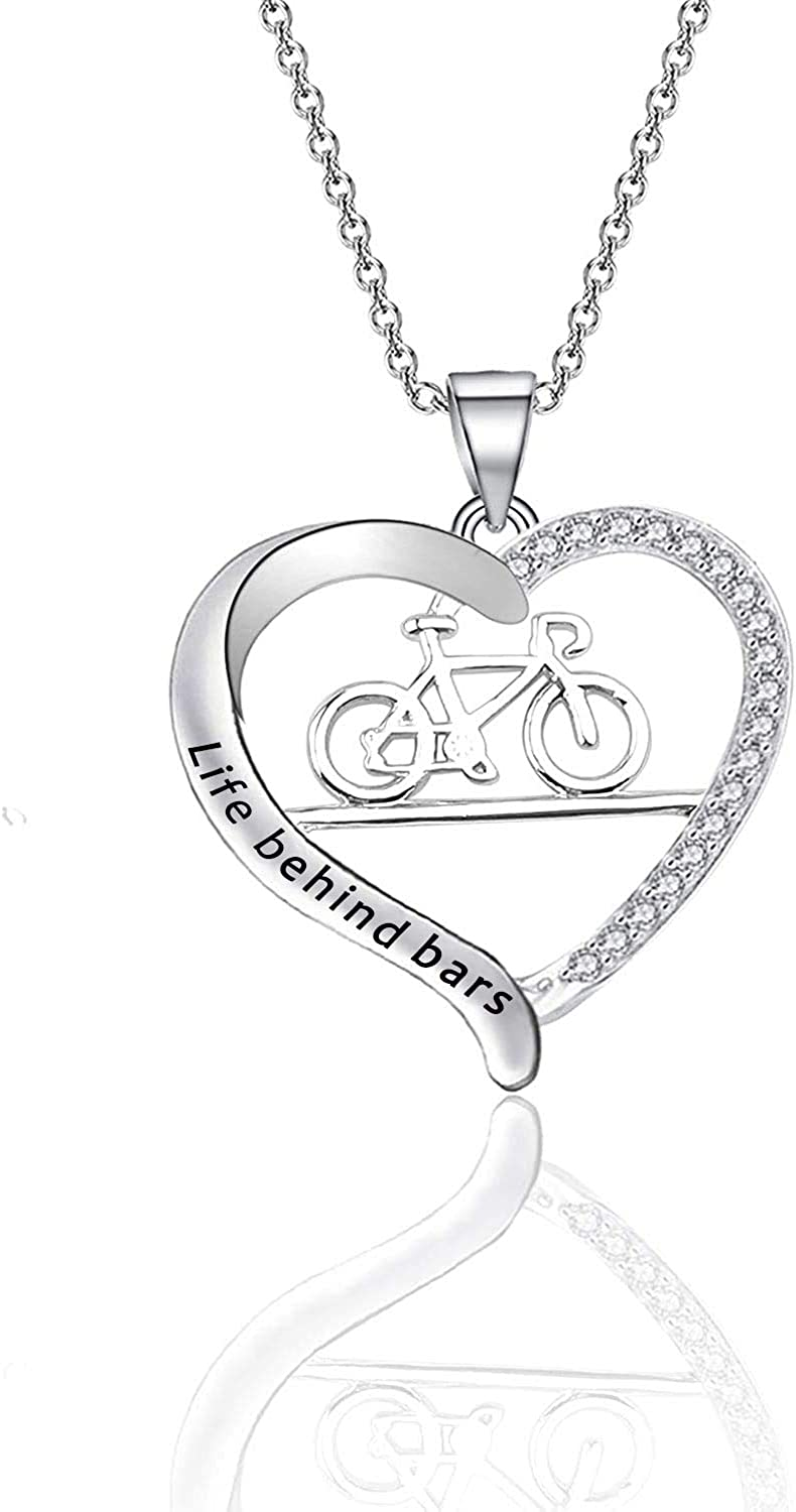 CHOORO Bicycle Necklace Jewelry Necklac Bars Fees free Genuine Free Shipping Life Behind