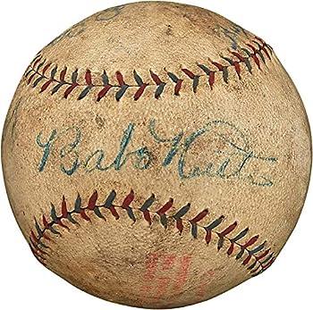 Yankees Babe Ruth & Lou Gehrig Signed 1927 Ban Johnson Oal Baseball PSA #AC02735 - Autographed Baseballs