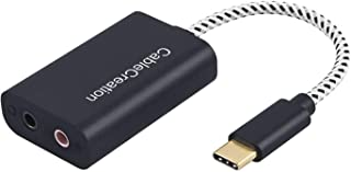 USB-C Microphone Adapter, CableCreation Type C External Stereo Sound Card with 3.5mm Audio Jack Compatible with Windows, MacBook Pro, iPad Pro 2020, Plug and Play, Black