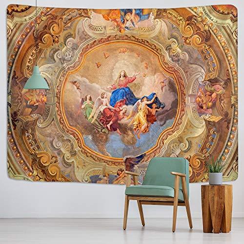 KHKJ Arazzo di Cristo Gesù Appeso a Parete Artistico Cottage Dormitorio Wall Art Decorazione Domestica Decorazione murale Marrone A4 150x130cm