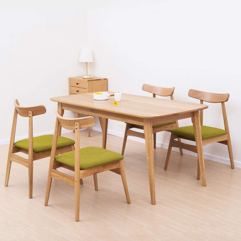 YUMUO Chaise de Salle à Manger Classique en Bois Massif pour la Cuisine de la Chambre à Coucher du Salon (Couleur: Vert) 2