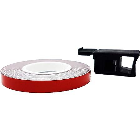 7 mm x 6 mt Quattroerre Bandes Wheel Stripes R/éfractifs pour les Jantes des Motos Orange