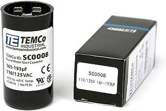 TEMCo 161-193 uf/MFD 110-125 VAC Volts Round Start Capacitor 50/60 Hz AC Electric - Lot -1