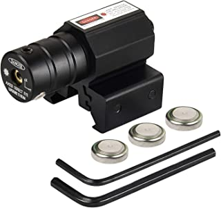 EZshoot Compact Tactical Red Dot Red Laser Sight with Picatinny Rail Mount for Pistol Handgun Gun Rifle-Easy Dual-Purpose