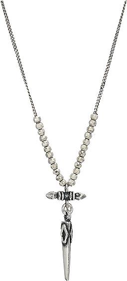 Silver Bullet Short Necklace