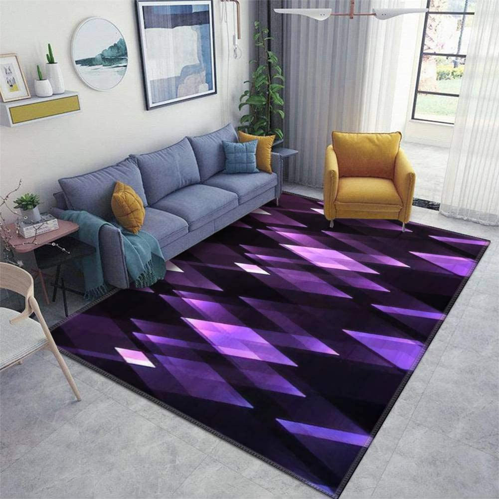 Home Area Runner Rug 爆安 Pad Backgro Crystal Amethyst Abstract 25%OFF Shine