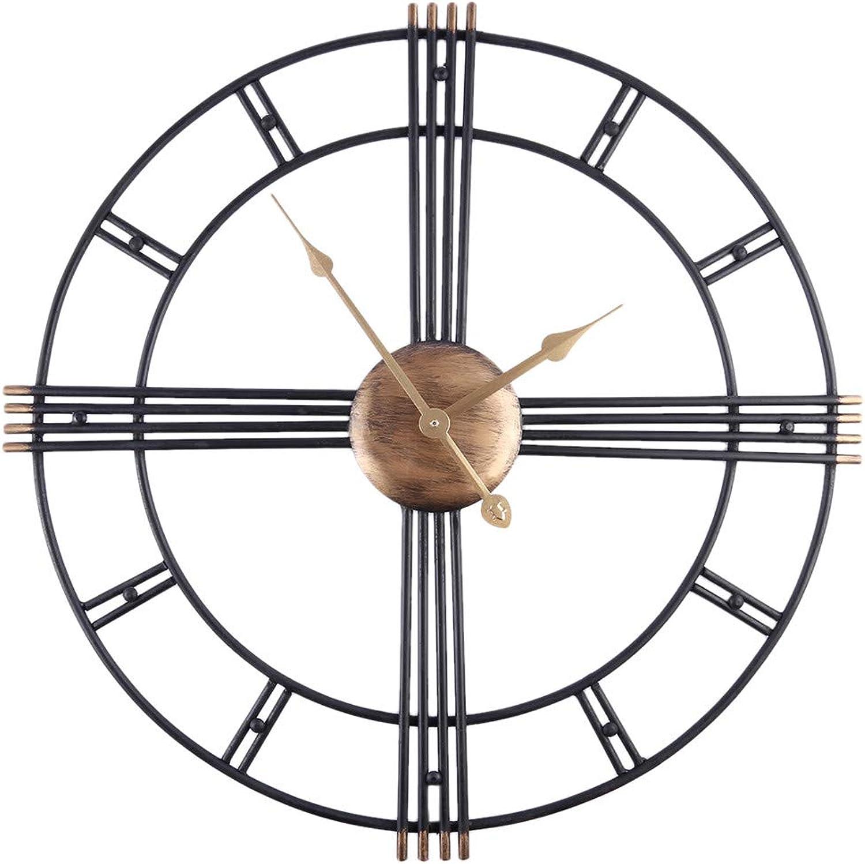 moda clasica FOOSKOO Wall Clocks Clocks Clocks Relojes de Parojo Retro Iron Art Antiquing Mute Relojes de Parojo Home Office Decor Reloj de Parojo Silencioso Reloj de Cuarzo Reloj de Parojo Diseo Moderno 50 CM  Garantía 100% de ajuste