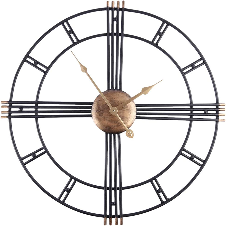 los últimos modelos FOOSKOO Wall Clocks Clocks Clocks Relojes de Parojo Retro Iron Art Antiquing Mute Relojes de Parojo Home Office Decor Reloj de Parojo Silencioso Reloj de Cuarzo Reloj de Parojo Diseo Moderno 50 CM  se descuenta