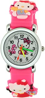 Kids Wristwatch Silicone Band Watches 3D Strap Rubber Secure Care Chirden Time Teacher Student Cartoon Watch