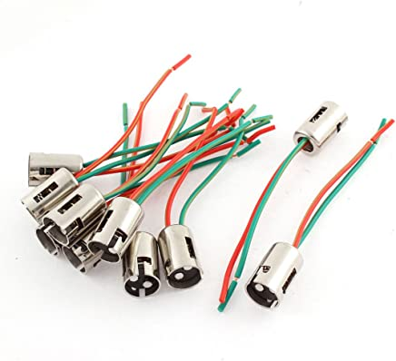 uxcell 10pcs dc 12v 1157 brake turn signal light socket wiring harness  connector plug pigtail adapter