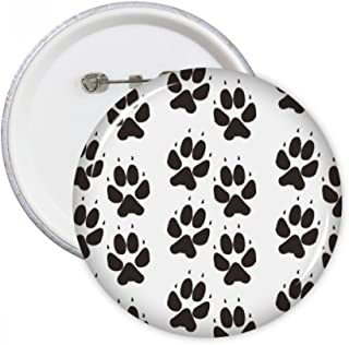 DIYthinker Patte Imprimer animal Griffe Silhouette Protection Badge Pins ronde des animaux Bouton Vêtements Décoration cad...
