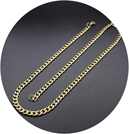 Epinki Stainless Steel Chain Necklace for Men and Women Gold Figaro Chain Chain for Men Necklace