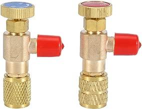 Cafopgrill 2pcs Válvula de Seguridad líquida R410A R22 Aire Acondicionado refrigerante 1/4
